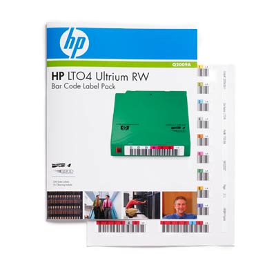 HP Ultrium 4 Bar Code Label Pack (Ultrium 1600 GB, RW) (Q2009A)
