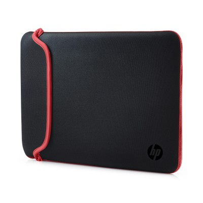 "Puzdro reversible sleeve 14"" - black + red"